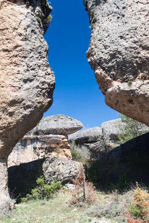 cuenca: strange rock formation in the Enchanted City in Cuenca; Spain