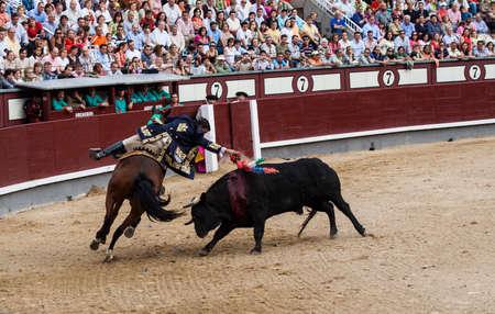 las ventas: MADRID - SPAIN  Rejoneo at Las Ventas arena in Madrid  Rejoneador  Joao Moura