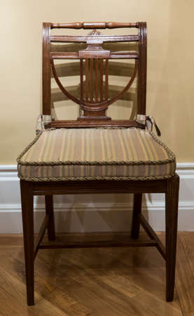 Isolated view of an antique chair photo