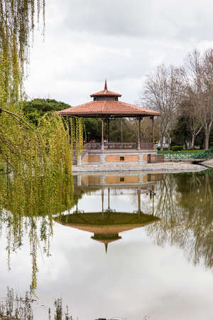 bandstand: Music pavilion and Bandstand in a  garden Stock Photo