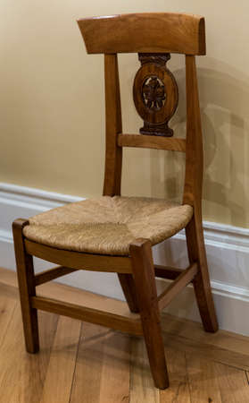 antique chair: Isolated view of an antique chair