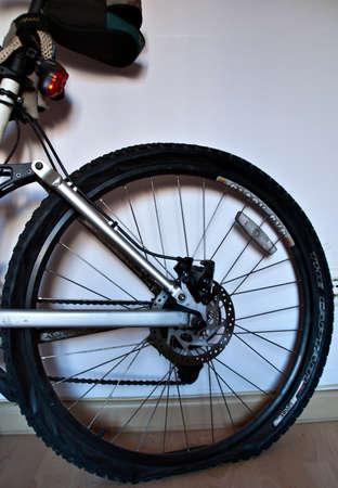 Tarragona (Spain) on 09-12-18 detail of bicycle wheel
