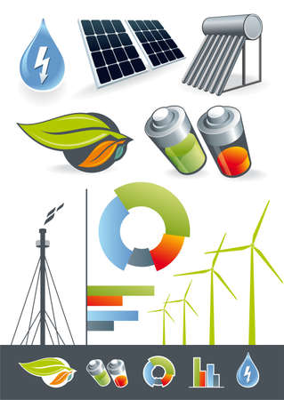 Illustration of renewable energy for the static or presentation