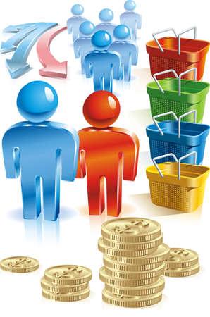 us coin: Compras y la gente