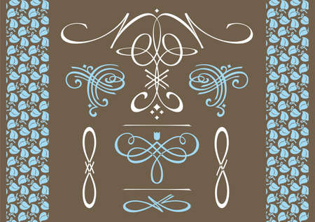 Decorative items for decoration. Illustration of decorative items for decoration in the design. Vector