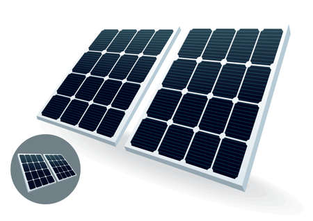 Illustration of solar cell - a source of alternative energy