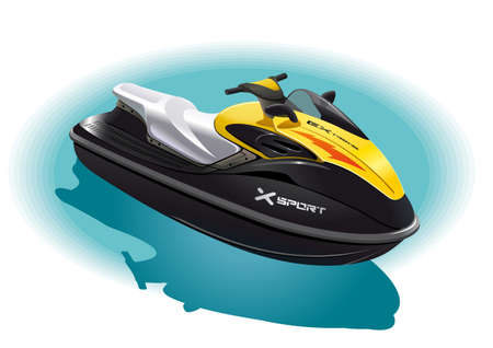 Illustration of the water bike for an unforgettable ride on the sea