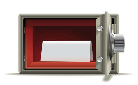safe money: Realistic illustration of an open safe with a place for an inscription Illustration