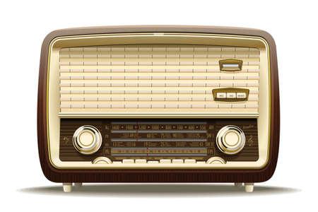 Illustration réaliste d'un récepteur radio ancienne du siècle dernier