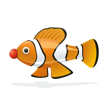 An amusing illustration of clown fish in a clown suit Stock Vector - 17332367