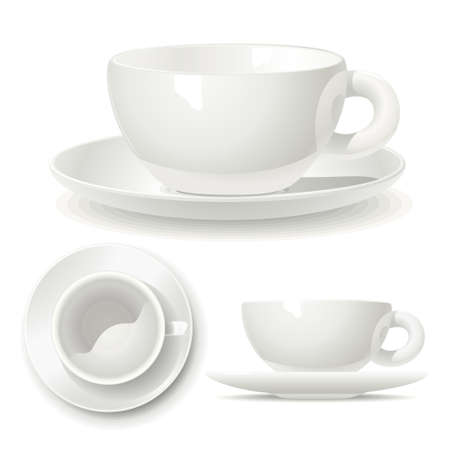 dishes: Small coffee cup  Illustration of a volume model small coffee cups for printing, logo or coloring