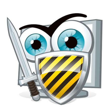 invasion: PC protection. Computer security guard protects against viruses and attacks.