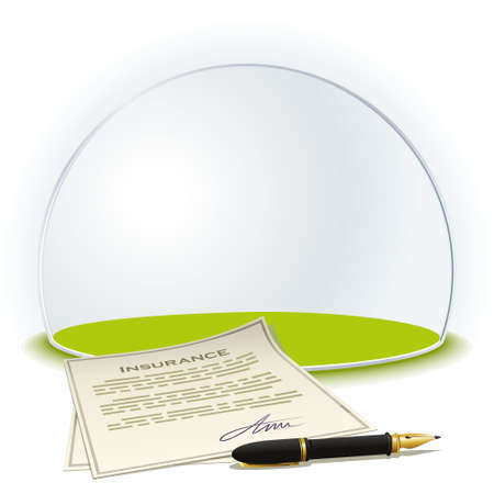 glass dome: Insurance globe. Insurance reliable, as under a glass dome.