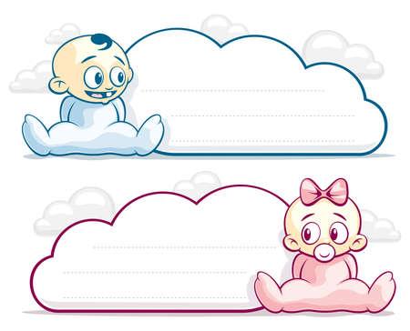 suckling: Nube sotto forma di bambini ragazzo e una ragazza