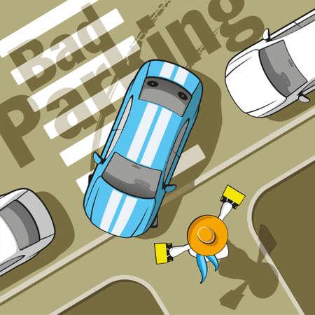 senda peatonal: Aparcamiento de coches mal bloqueado el paso de peatones y cerrado a los peatones