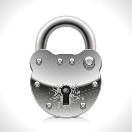 rivet: Good old padlock protect against intruders and thieves Illustration