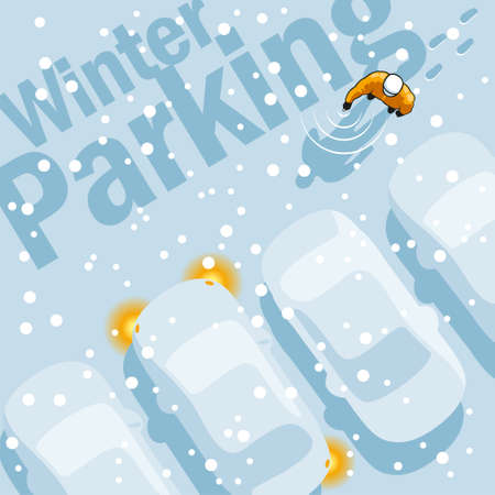 knickknack: Owner is looking for your car in the parking lot during a heavy snowfall.