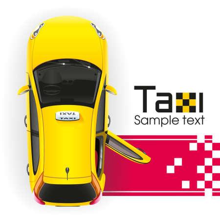 Taxi amarillo con la puerta abierta tendrá una persona muy importante en la alfombra roja