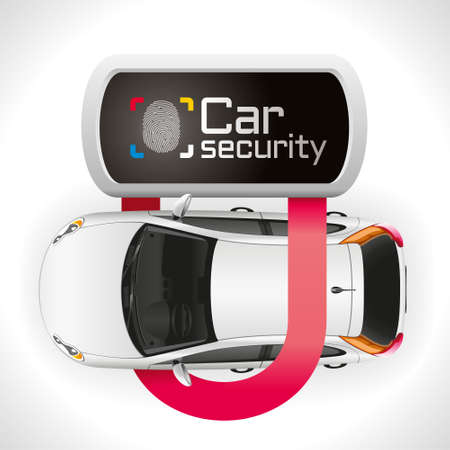padlock: The car is well protected closed padlock