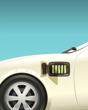 A new stage in the development of electric transport — an electric car rides on conventional AA batteries.