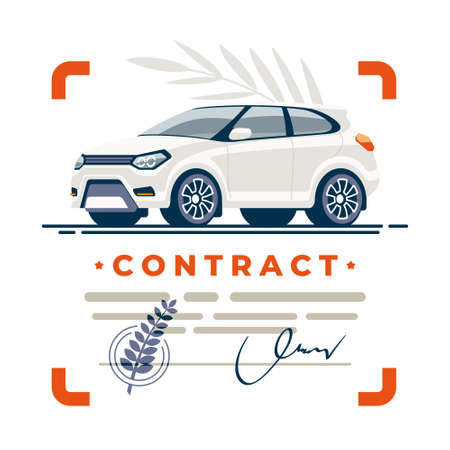 Clean deal of car is protected by a documented contract with a seal and a certified signature.