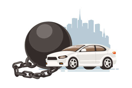 Legal or physical restriction of movement of the car or other obligations imposed on the property.