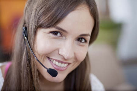customer assistant: Young woman working from home