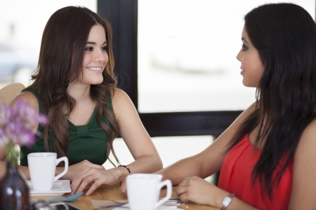 best: Best friends chatting and having coffee