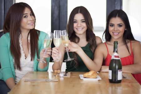 best: Best friends making a toast Stock Photo
