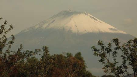 otra vista del volcan popocatepetl al amanecer Stock fotó
