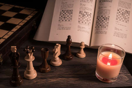 The study of chess 스톡 콘텐츠