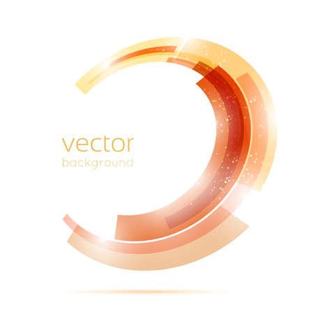 oval shape: Orange circle perspective center