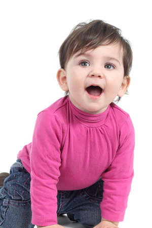 Baby surprised on a white isolated background Stock Photo - 17789690