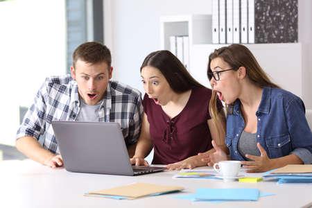 Drie verbazingwekkende ondernemers ontvangen goed nieuws op kantoor