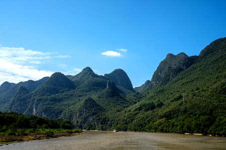 city park boat house: li river cruise from Guilin to Yangshuo, china, Asia