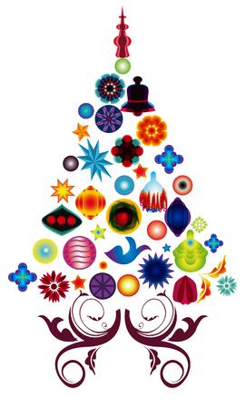 albero: albero di natale multicolore