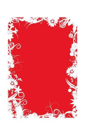 cornice: sfondo decorato rosso e bianco