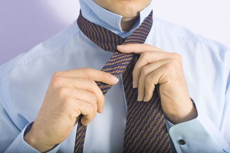 gesticulating: businessman Stock Photo