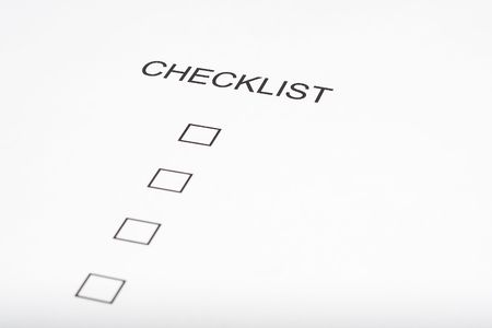 checklist form photo