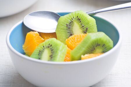 dessert of kiwi and orange slices fresh Stock Photo - 3792299