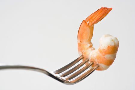 delicious fresh cooked shrimp prepared to eat Stock Photo - 3919172