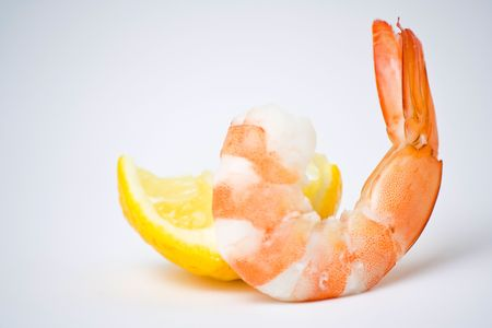 delicious fresh cooked shrimp prepared to eat Stock Photo - 3919171