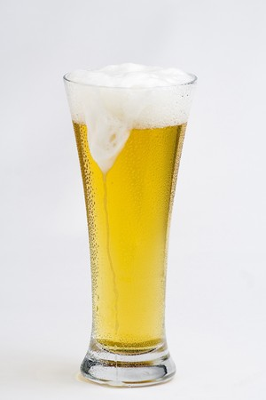 a fresh cold and tasty beer isolated photo