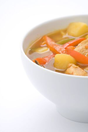Chinese chicken soup with potatoes and peppers Stock Photo - 4580973