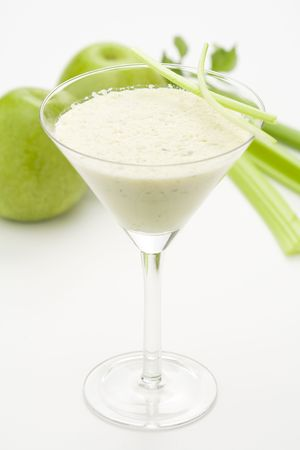 fresh fruit milk shake apple and celery Stock Photo - 4580996