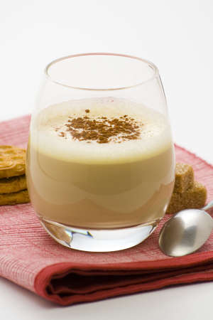 delicious ice chocolate with white irish cream isolated