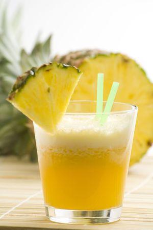 refreshing and creamy pineapple and orange milkshake Stock Photo - 4834988