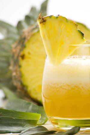 refreshing and creamy pineapple and orange milkshake Stock Photo - 4834992