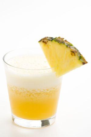 refreshing and creamy pineapple and orange milkshake Stock Photo - 4852322