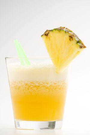 refreshing and creamy pineapple and orange milkshake Stock Photo - 4852323